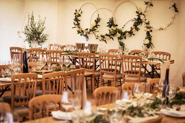 Marquee interior - Stacey Oliver photographer
