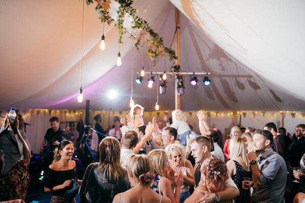 Festival marquee interior - Wedding Day Photos