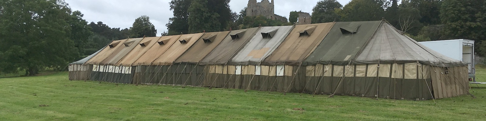 Army marquee 108' long