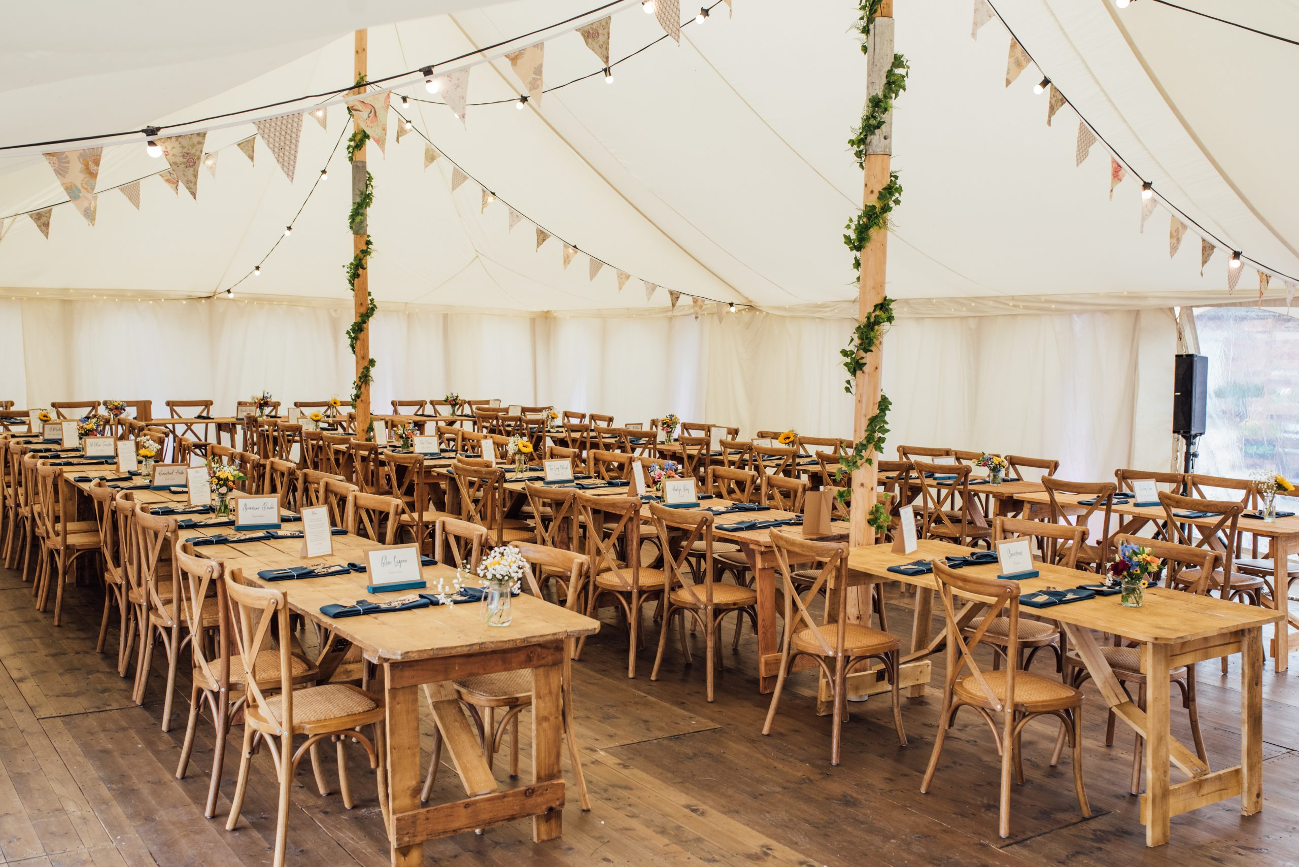 Pretty Petal marquee with finished floor